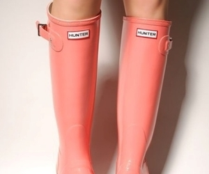 boots, pink, and hunter image