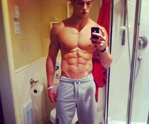 abs, Hot, and boy image