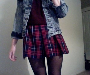 grunge, pale, and outfit image