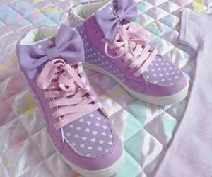 shoes, purple, and bow image