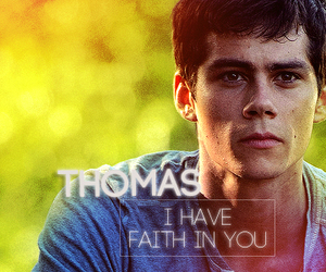 thomas, the maze runner, and dylan o' brien image
