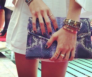 bag, clothes, and nail polich image