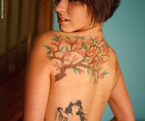 blossoms, flowers, and girl image