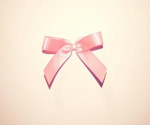 pink, bow, and ribbon image