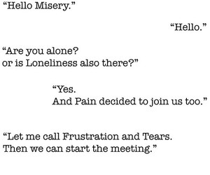 misery, pain, and tears image