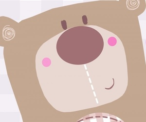 baby, bear, and pink image