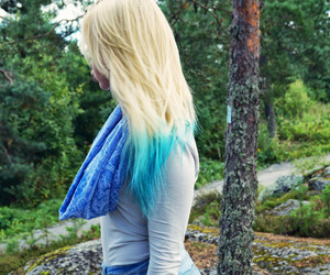 blond, blue, and dip dye image