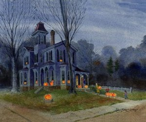 art, house, and victorian image