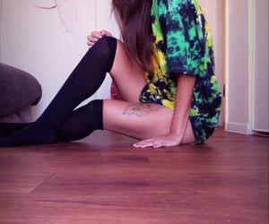 beautiful, floor, and tattoo image