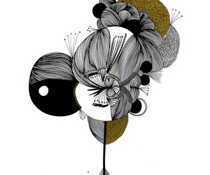art, black, and hipster image