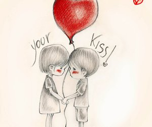 children, kiss, and your kiss image