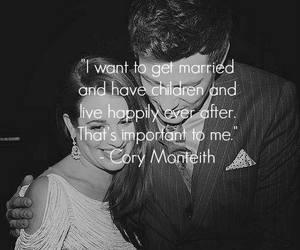cory monteith, glee, and lea michele image