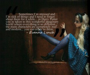 evanna lynch, harry potter, and sutyimo image