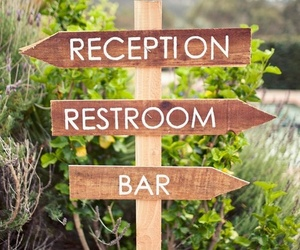 signs and wedding image