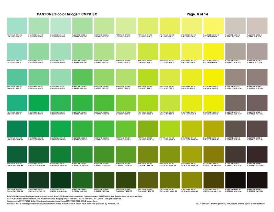 Pantone Color Sheets Ibovnathandedecker