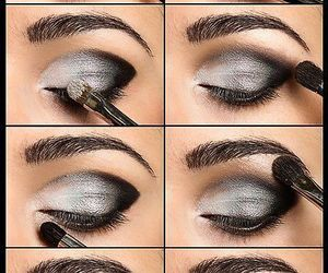 eye, make-up, and shadow image