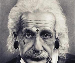 einstein, piercing, and Albert Einstein image
