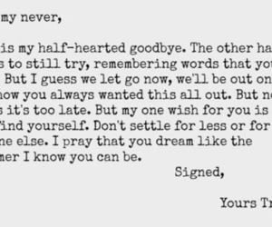 dear, Letter, and paradise fears image
