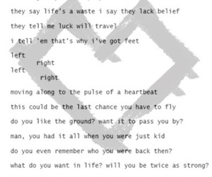 Lyrics, paradise fears, and song image
