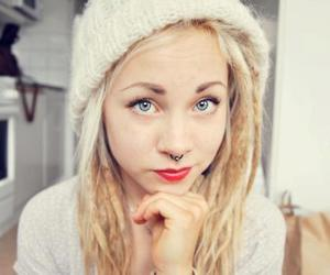 girl, blonde, and piercing image