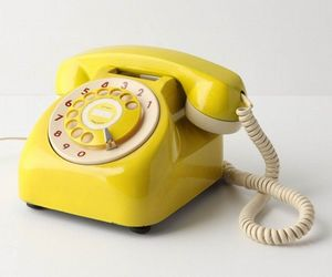 phone, yellow, and vintage image