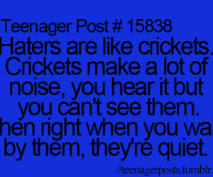 true, haters, and teenager post image