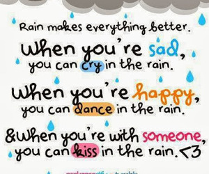 rain, kiss, and dance image