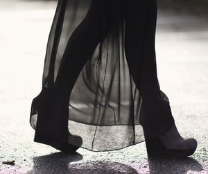 shoes, black, and legs image