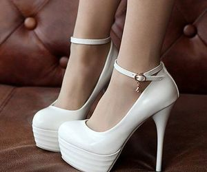 girl, high heels, and shoes image