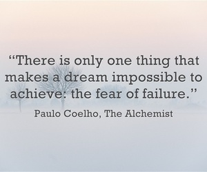 quotes, paulo coelho, and failure image