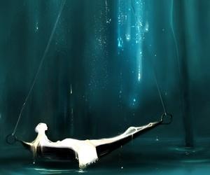 art, fantasy, and boat image