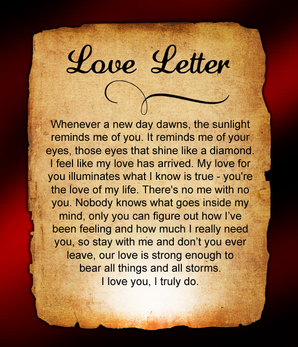 Do you miss him a lot Send this love letter to him to express