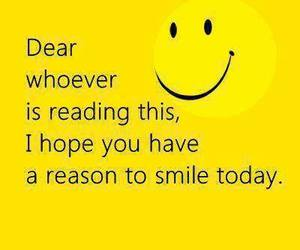 smile, quote, and hope image
