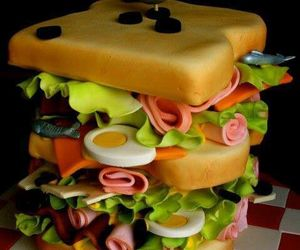 cake, sandwich, and food image
