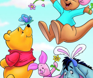 disney, flowers, and winnie the pooh image