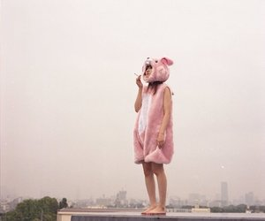 pink, bunny, and cigarette image