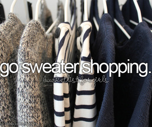 sweater, shopping, and fashion image