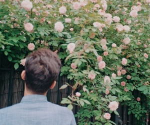 flowers, boy, and hipster image