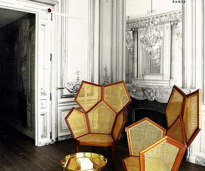 armchairs, honeycomb, and interior design image