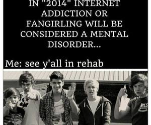 one direction, funny, and rehab image