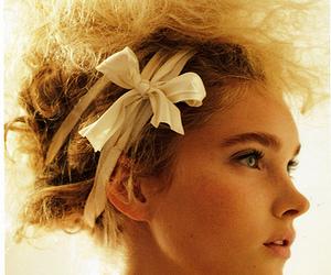 blonde, ribbon, and beuaty image