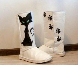 fashion, cat, and uggs image