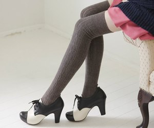 fashion, knee socks, and stockings image