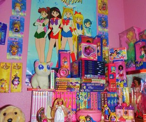 sailor moon and room image