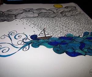 art, sea, and illustration image