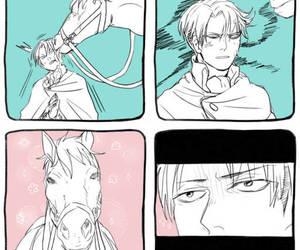 anime, shingeki no kyojin, and levi ackerman image