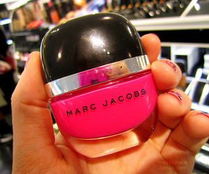 cosmetics, girl, and pink image