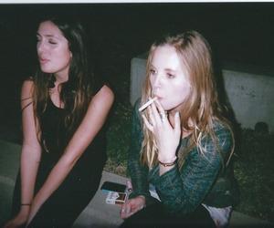 girl, grunge, and smoking image