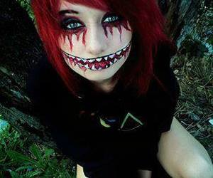 emo, makeup, and red image