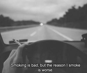 smoke, smoking, and cigarette image